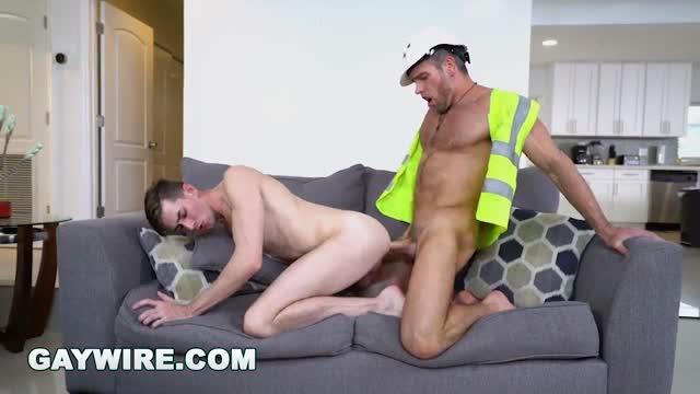 คลิปเกย์ฝรั่ง เกย์เย็ดกับหนุ่มไซต์งาน Construction Worker Fucks
